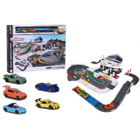 Ігровий набір Majorette Випробувальний центр Порше з 5 машинками (2050029)