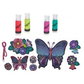 Набір для творчості і декорування Настінна прикраса, Метелики Да Вінчі Хасбро, Butterfly Wall Art, Doh Vinci (A9210)