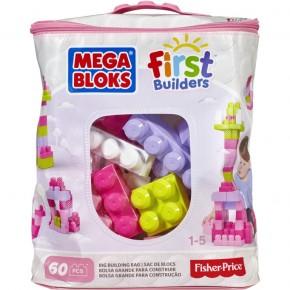 """Конструктор Мега Блокс """"Перші будівельники"""" в рожевій сумці 60 шт., MEGA BLOKS (DCH54-CYP67)"""