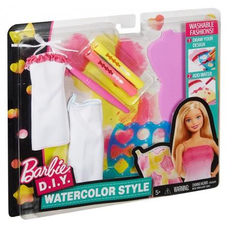 Купити Ігровий набір для ляльки Барбі Акварельний стиль Мател, Barbie D.I.Y. Watercolor Style Mattel (DWK51)