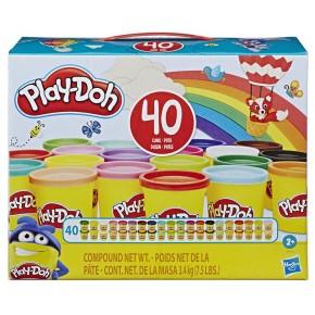 Набір пластиліну Плей-До 40 баночок Хасбро, Play-Doh Hasbro (E9413)
