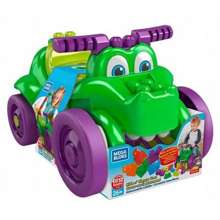 "Конструктор машинка-крокодил ""Катайся і збирай кубики"", MEGA BLOKS (GFG22)"